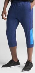 男性用伸縮性スーツタイプのボトムスの写真