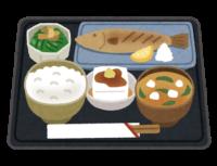 和風定食のイラスト